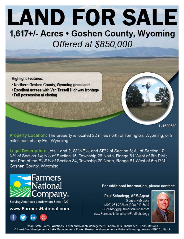 goshen county On wyoming's border with nebraska, goshen county and its economy have long been stabilized by farming and ranching today, sugar beets and cattle are the main products.