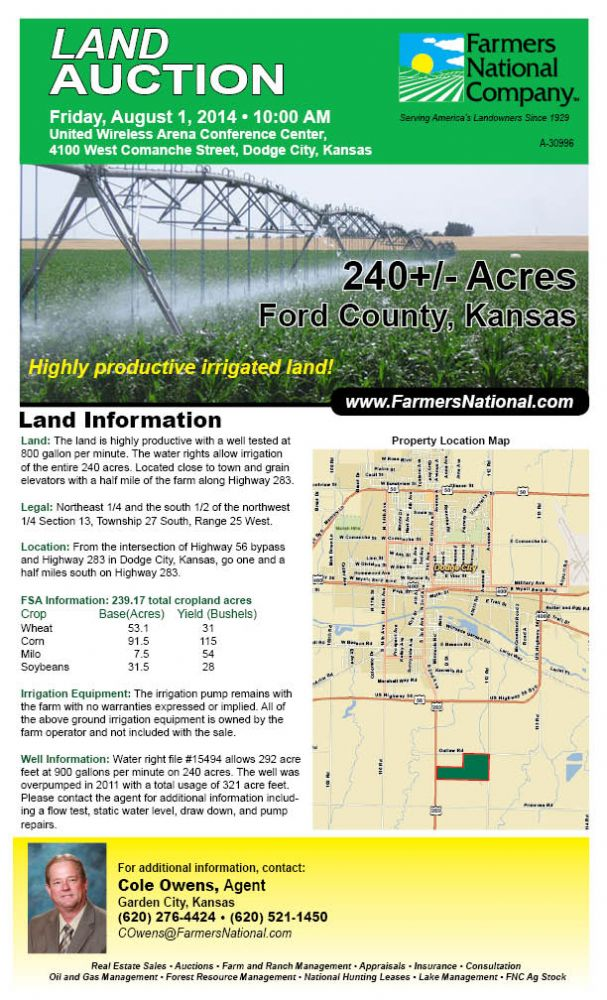 Kansas land for sale | Ford County | Cole Owens