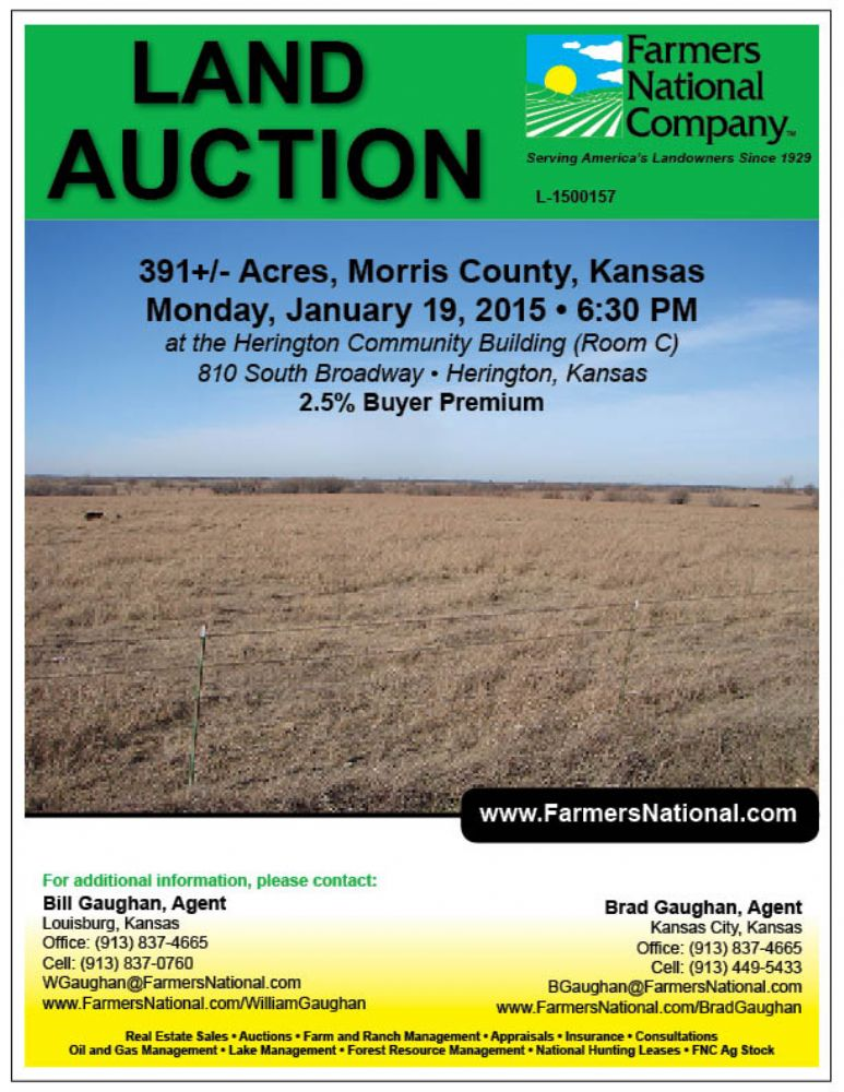 Kansas land for sale | Morris County | William Gaughan