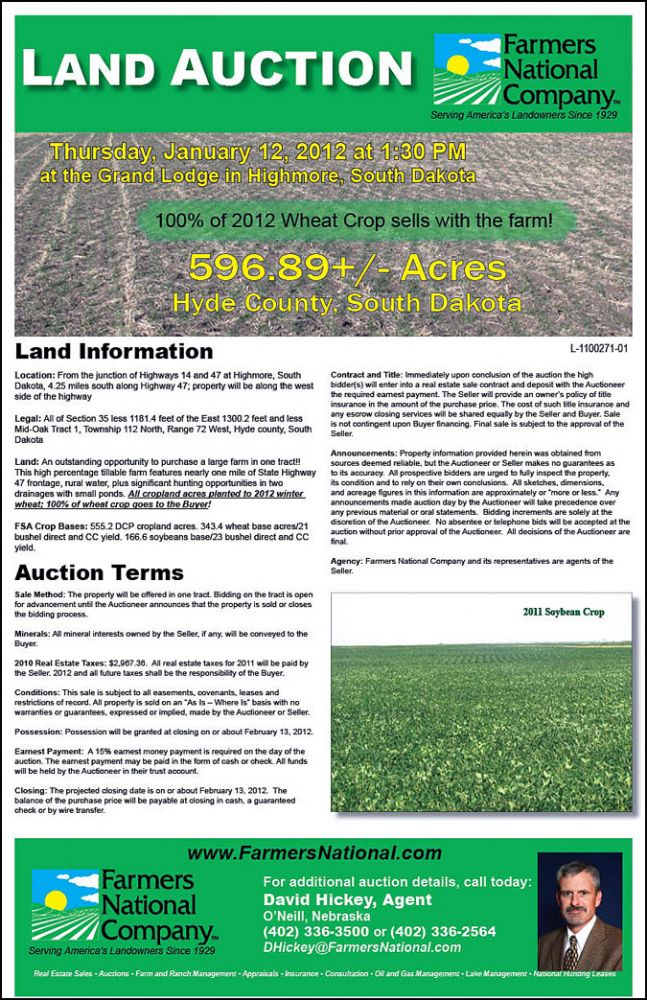 South Dakota land for sale | Hyde County | Dave Hickey