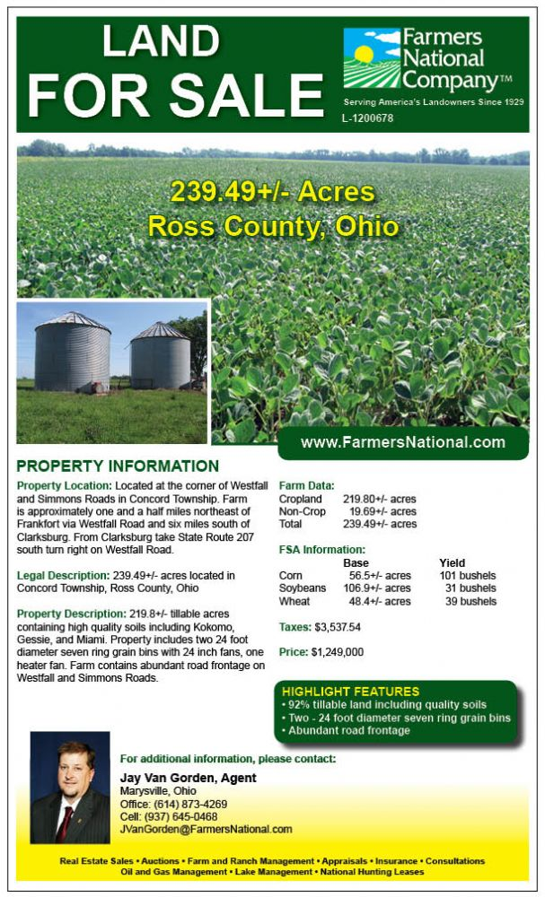 Ohio Land For Sale Ross County Jay Vangorden